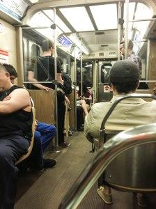 great people watching on the el