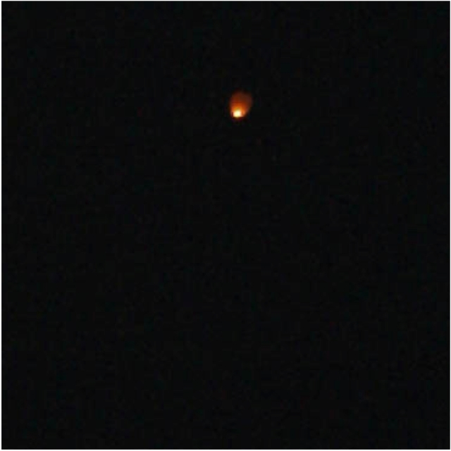 unfortunately the camera died before i was able to get a good one of the fireworks, but i was able to catch this chinese lantern