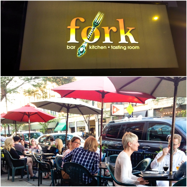 fork has a great outdoor patio and since it was so nice out the patio was packed